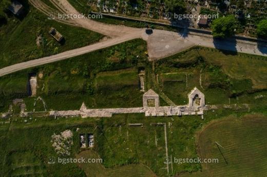 крепост дионисополис от високо с дрон