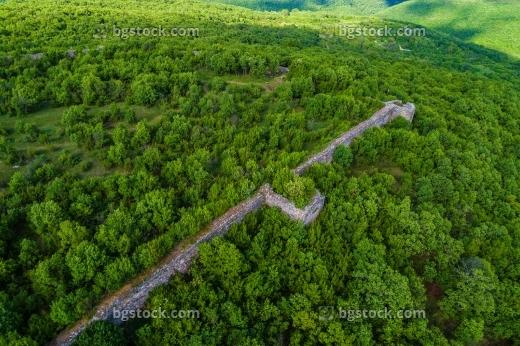 крепост лютица от високо с дрон